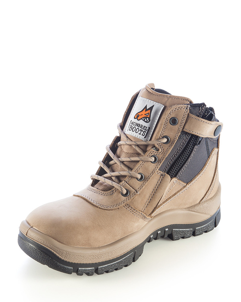c77fa191843 Mongrel Boot - Zip Side Safety Work Boot Stone
